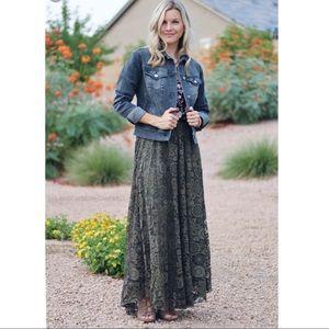 LulaRoe Lucy lace maxi skirt